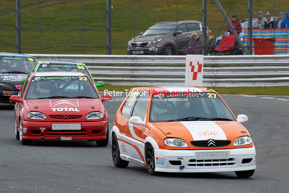 #27 Matt ROUND-GARRIDO  Citoren Saxo VTR  1600 during Junior Saloon Car Championship as part of the BARC NW - Championship Raceday  at Oulton Park, Little Budworth, Cheshire, United Kingdom. March 19 2016. World Copyright Peter Taylor/PSP. Copy of publication required for printed pictures.  Every used picture is fee-liable. http://archive.petertaylor-photographic.co.uk