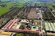 Nederland, Overijssel,  Gemeente Hardenberg, 01-05-2013; vakantiepark en attractiepark Slagharen (voorheen Shetland Ponypark Slagharen). Achtbaan en vakantiewoningen.<br /> Themepark & Resort Slagharen.<br /> luchtfoto (toeslag op standard tarieven);<br /> aerial photo (additional fee required);<br /> copyright foto/photo Siebe Swart