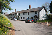 Cottages in Orcheston, Wiltshire, England built 1842 in two pairs to replace ones lost in flooding of houses on lower land, UK