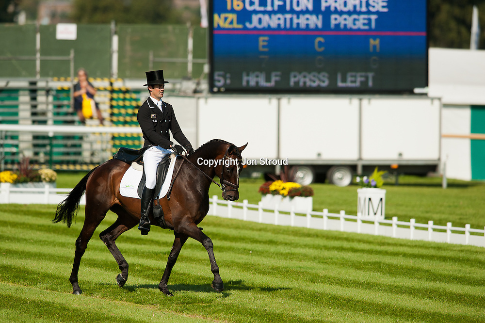 Jonathan Paget (NZL) & Clifton Promise - Dressage - The Land Rover Burghley Horse Trials - Stamford, Lincolnshire, United Kingdom - 1 September 2011