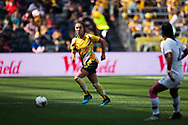 SYDNEY, AUSTRALIA - NOVEMBER 09: Jenna McCormick of Australia controls the ball during the International friendly soccer match between Matildas and Chile on November 09, 2019 at Bankwest Stadium in Sydney, Australia. (Photo by Speed Media/Icon Sportswire)