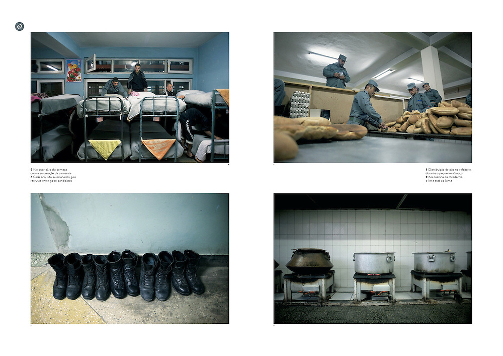 """Tearsheet of """"Afghanistan: Kabul Police Academy"""" published in Courrier Internacional"""