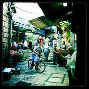 Jerusalem, Israel. September 20th 2011.A street scene in the historical old city...