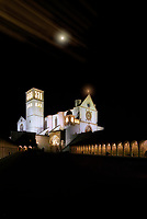 """Midnight snow glow of the Papal Basilica of San Francesco di Assisi - Stella""...<br />