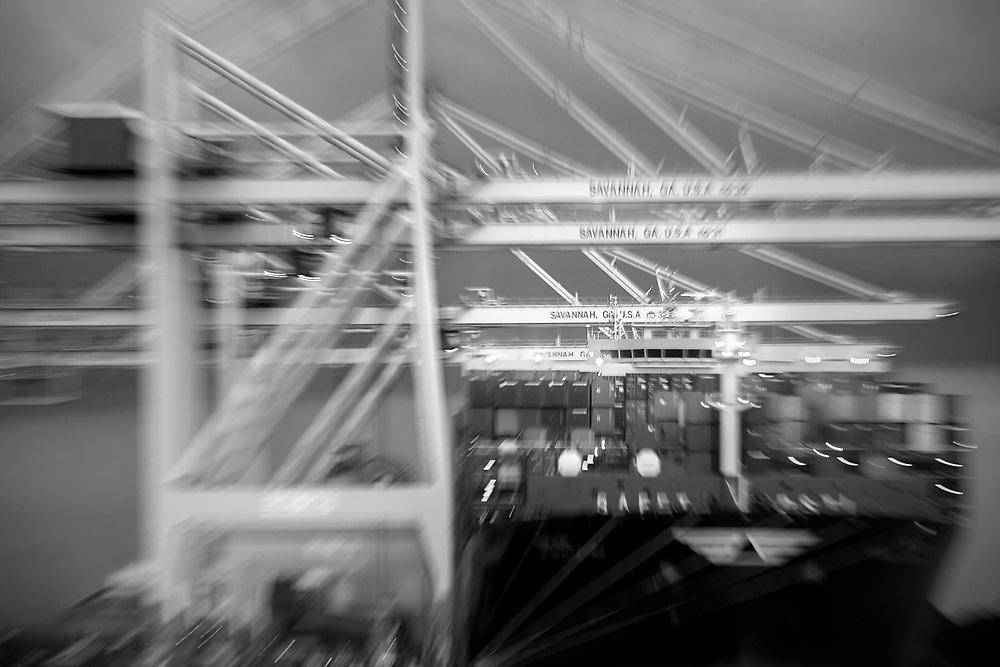 Garden City Terminal cargo import and export Georgia Ports Authority, Thursday, Aug. 5 2016, at the Garden City Terminal near Savannah, Ga.  (GPA Photo/Stephen B. Morton)