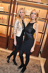 Left to right, KATE DRIVER and SARAH WOODHEAD at the Salvatore Ferragamo Old Bond Street Boutique Store Launch on 5th December 2012.