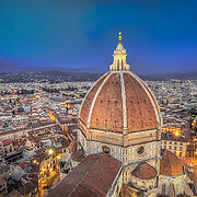 Florence is the birthplace of the Renaissance and, for me, the 600 year-old Santa Maria del Fiore Cathedral is the centrepiece of the city. With around 450 steps rising up through a narrow staircase to the top of the Cathedral, the ascent is surprisingly tough (and worse still with camera equipment) but the view from the top is second to none. <br />