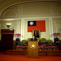 Taiwan´s presidents Ma Ying-jeou speak during a press conference with international press in Taipei, Taiwan, Wednesday, May 20, 2009/ Photographer: Bernardo De Niz