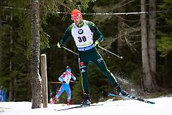 Arnd Peiffer (GER) in action during the Pursuit Men 12,5 km at day 8 of IBU Biathlon World Cup 2018/19 Pokljuka, on December 9, 2018 in Rudno polje, Pokljuka, Pokljuka, Slovenia. Photo by Urban Urbanc / Sportida