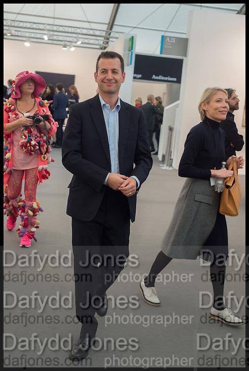 MATHEW SLOTOVER; EMILY KING, Opening of Frieze art Fair. London. 14 October 2014
