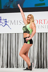 Eva Cerar at Miss Sports of Slovenia 2015, on April 18, 2015, in Festivalna dvorana, Ljubljana, Slovenia