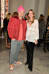 JUERGEN TELLER and OLYMPIA CAMPBELL at the Alexandra Shulman and Leon Max hosted opening of Vogue 100: A Century of Style at The National Portrait Gallery, London on 9th February 2016.