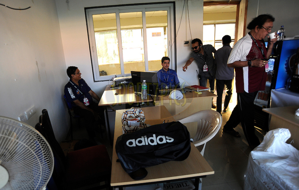FC goa office during match 36 of the Indian Super League (ISL) season 2  between Mumbai City FC vs FC Pune City held at the D.Y. Patil Stadium, Navi Mumbai, India on the 13th November 2015.<br /> <br /> Photo by Pal Pillai / ISL/ SPORTZPICS