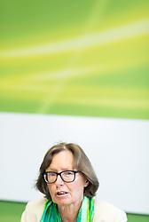 24.05.2017, Grüner Parlamentsklub, Wien, AUT, Grüne, Pressekonferenz mit Präsentation des neuen Chef des grünen Parlamentsklubs. im Bild Stv. Klubobfrau der Grünen Gabriela Moser // Assistant.leader of the parliamentary group the greens Gabriela Moser during presentation of the new leader of the parliamentary group the greens in Vienna, Austria on 2017/05/24. EXPA Pictures © 2017, PhotoCredit: EXPA/ Michael Gruber