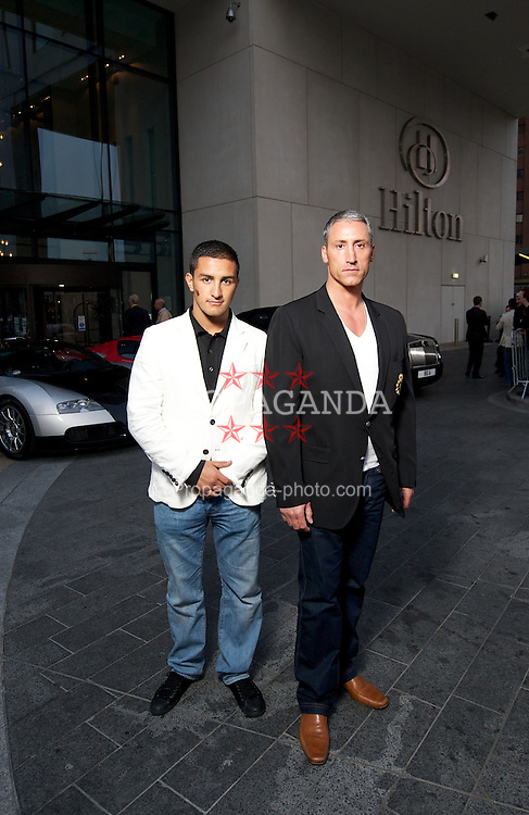 LIVERPOOL, ENGLAND - Tuesday, May 25, 2010: Chairman of the Ability Group Andreas Panayiotou [r] with Jesse Metcalfe [l], pictured outside the Hilton Hotel in Liverpool. (Pic by David Rawcliffe/Propaganda)