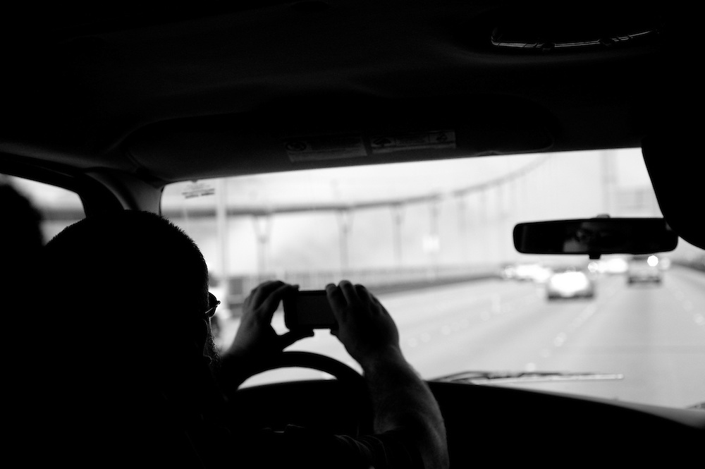 Andy, getting Golden Gate footage while driving.