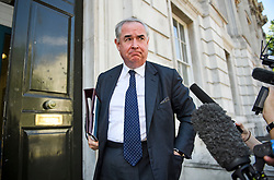 "© Licensed to London News Pictures. 29/07/2019. London, UK. Attorney General GEOFFREY COX MP is seen arriving at Cabinet Office in Whitehall for a ""War Cabinet"" meeting.. Photo credit: Ben Cawthra/LNP"