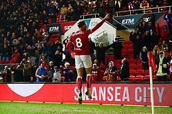 Josh Brownhill of Bristol City celebrates scoring a goal - Mandatory by-line: Dougie Allward/JMP - 05/01/2019 - FOOTBALL - Ashton Gate Stadium - Bristol, England - Bristol City v Huddersfield Town - Emirates FA Cup third round proper