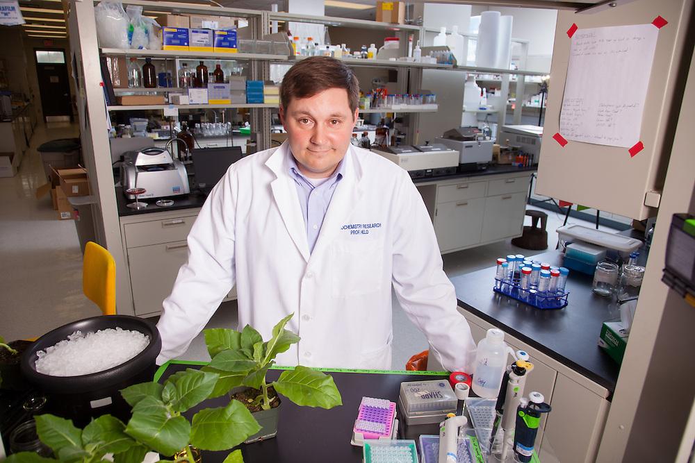 Assistant Professor Michael Held, Biochemistry Research Facility Ohio University. © Ohio University / Photo by Jonathan Adams