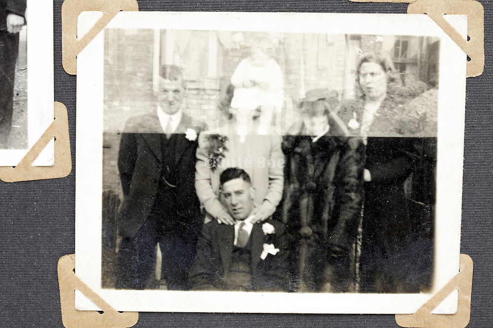 family pictures of which negative is partly accidental double exposed