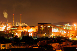 FRANCE PROVENCE MARSEILLE OCT06 - General view of the Alcan Bauxite factory in Gardanne, Provence, southern France at night.. . jre/Photo by Jiri Rezac. . © Jiri Rezac 2006. . Contact: +44 (0) 7050 110 417. Mobile:  +44 (0) 7801 337 683. Office:  +44 (0) 20 8968 9635. . Email:   jiri@jirirezac.com. Web:    www.jirirezac.com. . © All images Jiri Rezac 2006 - All rights reserved.