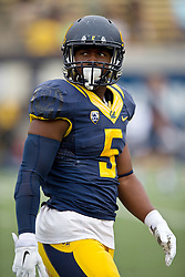 BERKELEY, CA - SEPTEMBER 12:  Running back Tre Watson #5 of the California Golden Bears warms up before the game against the San Diego State Aztecs at California Memorial Stadium on September 12, 2015 in Berkeley, California. The California Golden Bears defeated the San Diego State Aztecs 35-7. (Photo by Jason O. Watson/Getty Images) *** Local Caption *** Tre Watson