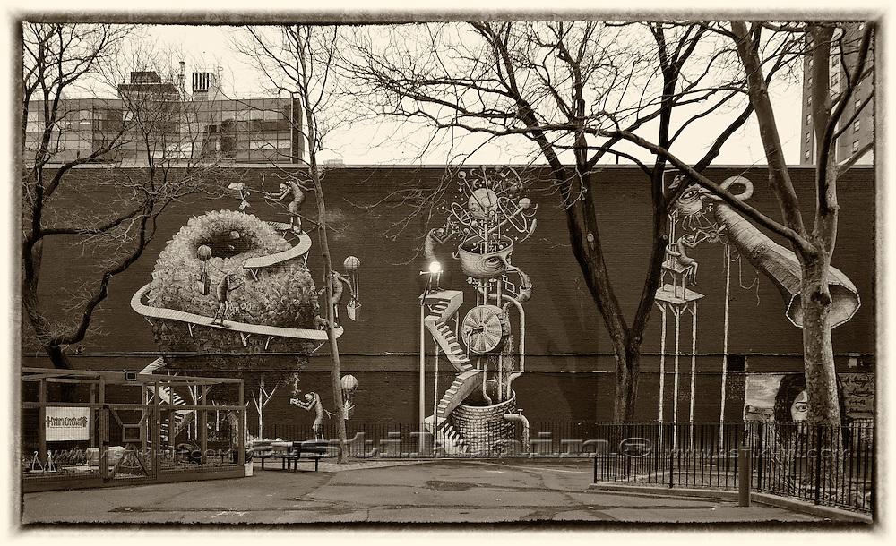 Playground on West Side Manhattan.