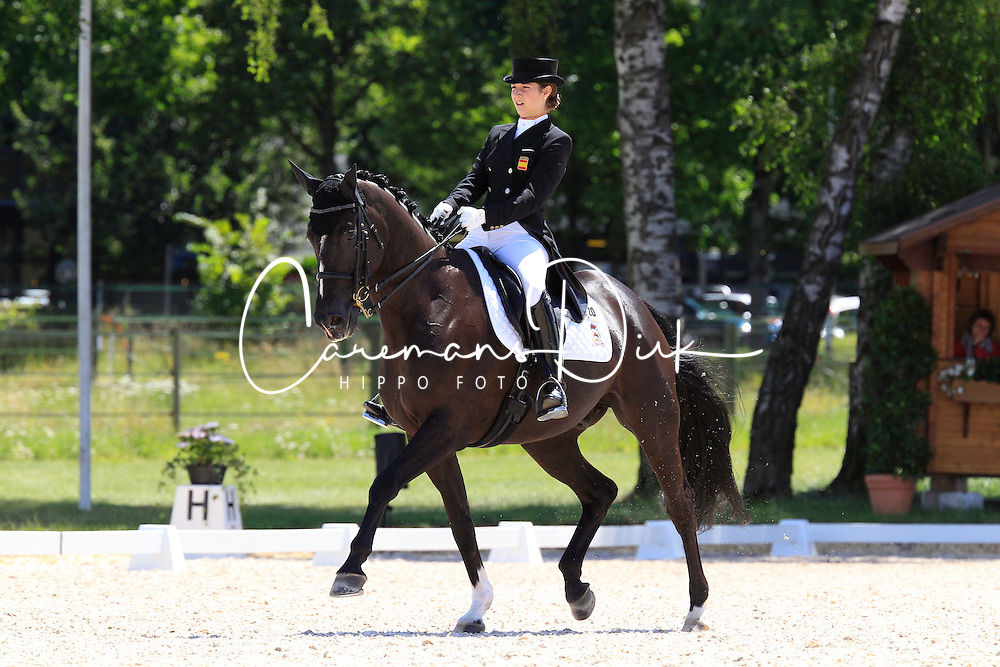 Barban&ccedil;on Mestre Alexandra (ESP) - Mr Q<br /> FEI European Dressage Championship Juniors - Bern 2012<br /> &copy; Hippo Foto - Leanjo de Koster