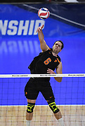 Princeton Tigers outside hitter Kendall Ratter (6) hits the ball against the Pepperdine Waves during an NCAA Championships opening round match, Wednesday, April 30, 2019, in Long Beach, Calif. Pepperdine defeated Princeton 25-23, 19-25, 25-16, 22-25, 15-8.