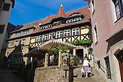 Meißen, Altstadt, Restaurant und Weinstube Vincenz Richter, Sachsen, Deutschland. .old town of Meissen, restaurant Vincenz Richter, Saxony, Germany.
