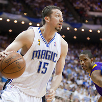 BASKET BALL - FINALS NBA 2008/2009 - LOS ANGELES LAKERS V ORLANDO MAGIC - GAME 5 -  ORLANDO (USA) - 14/06/2009 - .HEDO TURKOGLU (ORLANDO MAGIC), TREVOR ARIZA (LOS ANGELES LAKERS)