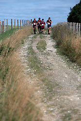 UK ENGLAND 29JUL17 - The first teams of runners and hikers make their way to checkpoint 2 at Hilltop Farm during the Trailwalker 2017 challenge across the South Downs National Park, England.<br /> <br /> jre/Photo by Jiri Rezac<br /> <br /> &copy; Jiri Rezac 2017