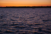 Sunset over Sturgeon Lake, Ontario, Canada.