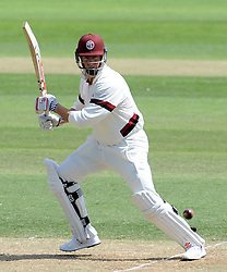 Somerset's Marcus Trescothick cuts the ball - Photo mandatory by-line: Harry Trump/JMP - Mobile: 07966 386802 - 15/06/15 - SPORT - CRICKET - LVCC County Championship - Division One - Day Two - Somerset v Nottinghamshire - The County Ground, Taunton, England.