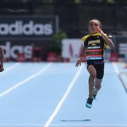 Xavier Donaldson, USA, winning the Boys' Fastest Kid in New York 100m during the Diamond League Adidas Grand Prix at Icahn Stadium, Randall's Island, Manhattan, New York, USA. 14th June 2014. Photo Tim Clayton