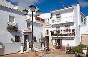 Coviran local supermarket shop in the Andalusian village of Comares, Malaga province, Spain
