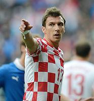 FUSSBALL  EUROPAMEISTERSCHAFT 2012   VORRUNDE Italien - Kroatien                    14.06.2012 Mario Mandzukic (Kroatien)