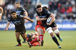 Elliott Stooke of Bath Rugby takes on the Toulon defence - Mandatory byline: Patrick Khachfe/JMP - 07966 386802 - 09/12/2017 - RUGBY UNION - Stade Mayol - Toulon, France - Toulon v Bath Rugby - European Rugby Champions Cup