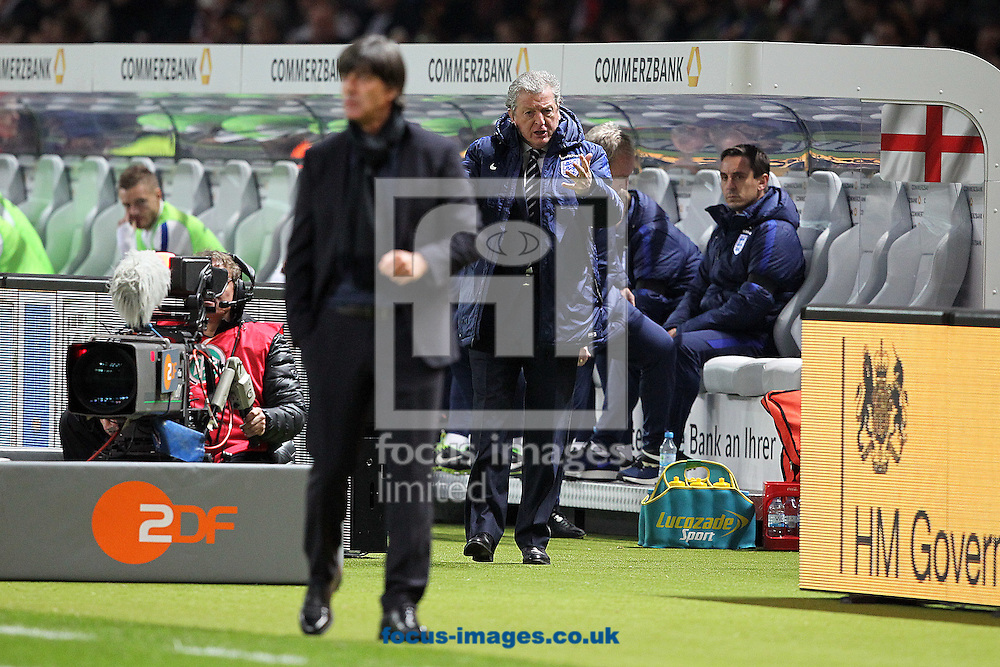 England Manager Roy Hodgson and Germany Coach Joachim Low during the International Friendly match at Olympiastadion Berlin, Charlottenburg-Wilmersdo<br /> Picture by Paul Chesterton/Focus Images Ltd +44 7904 640267<br /> 26/03/2016