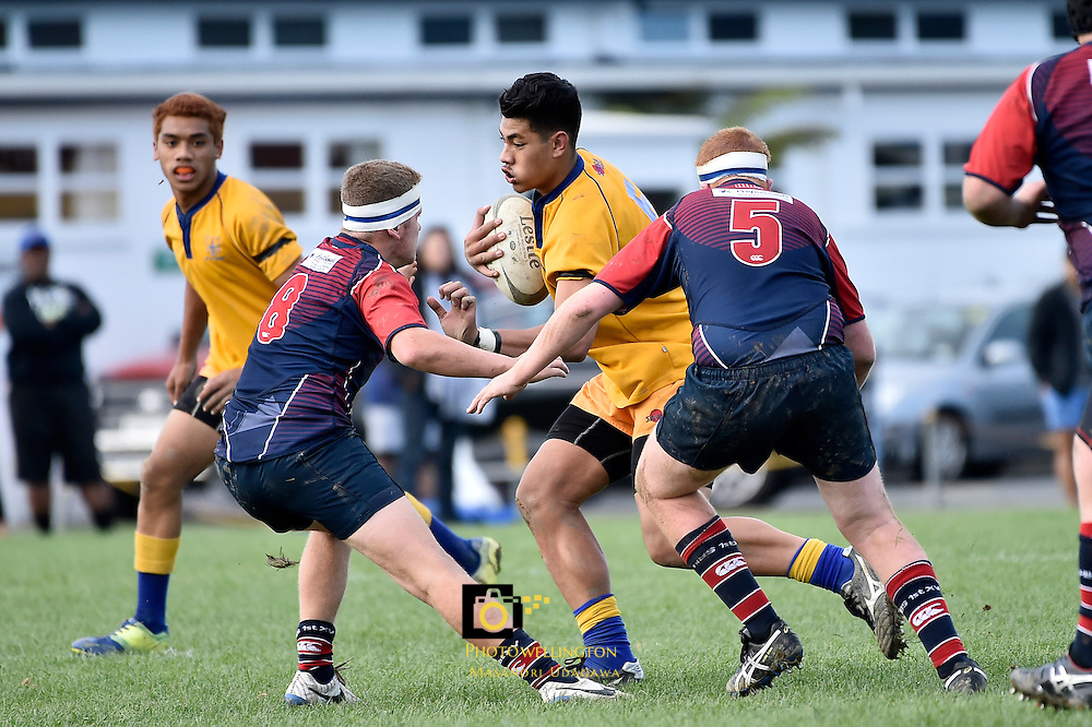 College Rugby - St Bernard's College v HIBS  at St Bernard's College, Lower Hutt,  New Zealand on Saturday 21 May 2016. <br /> Photo by Masanori Udagawa. <br /> www.photowellington.photoshelter.com.
