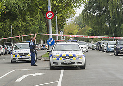 March 15, 2019 - Christchurch, Canterbury, New Zealand - Armed police seal off street to the .Masjid Al Noor mosque, one of two mosques where gunmen attacked and where some 30 people are feared dead. Four people have been arrested and several bombs were found following the shootings. (Credit Image: © PJ Heller/ZUMA Wire)