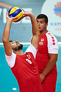 Katowice, Poland - 2017 September 01: Partner Peter Malachovsky from SO Slovakia receives the ball while SO Azerbaijan v SO Slovakia match during European Unified Volleyball Tournament 2017 at Spodek Hall on September 01, 2017 in Katowice, Poland.<br /> <br /> Adam Nurkiewicz declares that he has no rights to the image of people at the photographs of his authorship.<br /> <br /> Picture also available in RAW (NEF) or TIFF format on special request.<br /> <br /> Any editorial, commercial or promotional use requires written permission from the author of image.<br /> <br /> Image can be used in the press when the method of use and the signature does not hurt people on the picture.<br /> <br /> Mandatory credit:<br /> Photo by © Adam Nurkiewicz / Mediasport