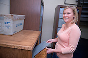 19090A day in the life of Elizabeth Wolfe.. ..Elizabeth Wolfe working at HSLS in Grover Center
