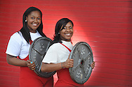 Lafayette High weightlifters Ashley Carter (left) and Keyonna Perry, in Oxford, Miss. on Wednesday, April 10, 2013.