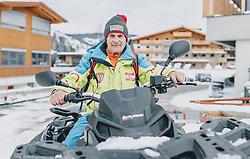 06.02.2020, Zwölferkogel, Hinterglemm, AUT, FIS Weltcup Ski Alpin, Saalbach Hinterglemm, Vorberichte, im Bild Hannes Stöckl (Technik und Aufbauten Strecke) // Hannes Stoeckl (technics and slope) before the FIS Ski Alpine World cup at the Zwoelferkogel in Hinterglemm, Austria on 2020/02/06. EXPA Pictures © 2020, PhotoCredit: EXPA/ JFK