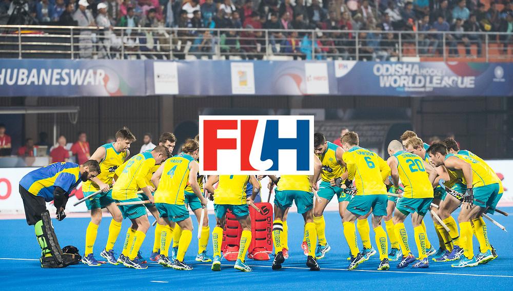 BHUBANESWAR - The Odisha Men's Hockey World League Final . Match ID 05 . Germany  v Australia . team Australia before the match. WORLDSPORTPICS COPYRIGHT  KOEN SUYK