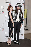 Francesca Merricks, Joshua Kane, ELLE Style Awards 2016, Millbank London UK, 23 February 2016, Photo by Richard Goldschmidt