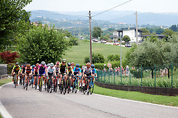 The peloton roll through the countryside during Stage 7 of 2019 Giro Rosa Iccrea, a 128.3 km road race from Cornedo Vicentino to San Giorgio di Perlena, Italy on July 11, 2019. Photo by Sean Robinson/velofocus.com