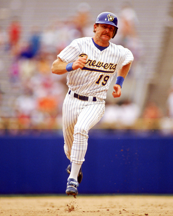 MILWAUKEE - 1989:  Robin Yount of the Milwaukee Brewers runs the bases during an MLB game at County Stadium in Milwaukee, Wisconsin during the 1989 season. (Photo by Ron Vesely).  Subject:   Robin Yount
