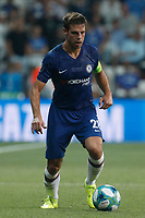 ISTANBUL, TURKEY - AUGUST 14: Cesar Azpilicueta of Chelsea in action during the UEFA Super Cup match between Liverpool and Chelsea at Vodafone Park on August 14, 2019 in Istanbul, Turkey. (Photo by MB Media/Getty Images)